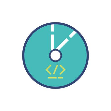 Website code and cd design, Programming web designer technology internet media modern and development theme Vector illustration