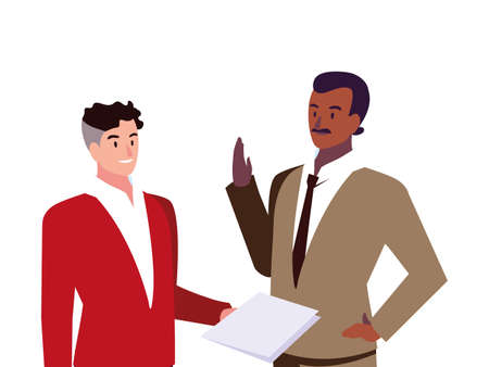 cute businessmen with various views, poses and gestures vector illustration design 일러스트