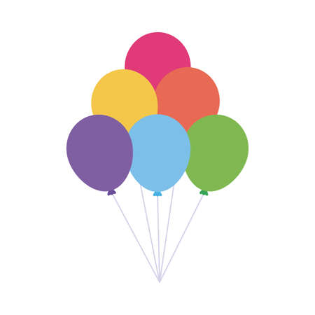 lgtbi balloons flat style icon design, Pride day sexual orientation and identity theme Vector illustration