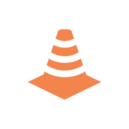 cone design, Under construction architecture work repair progress warning industry and build theme Vector illustration
