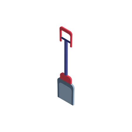 cute shovel on white background vector illustration design