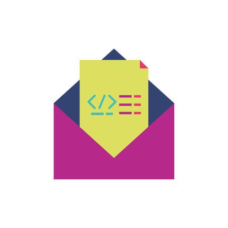 Website code and message design, Programming web designer technology internet media modern and development theme Vector illustration