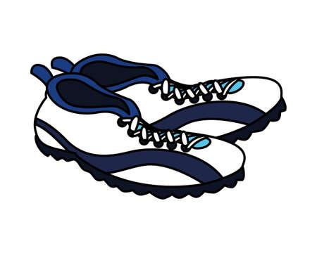 american football shoes on white background vector illustration design Çizim