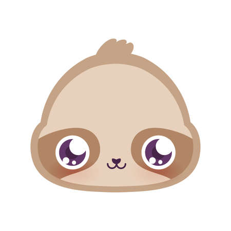 Cute sloth cartoon design, Animal zoo life nature character childhood and adorable theme Vector illustration Vettoriali