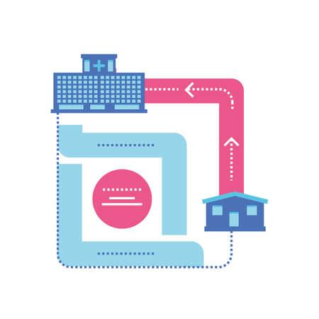 template healthcare infographic, process diagram vector illustration design Illusztráció