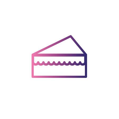 portion of birthday cake,gradient style icon vector illustration design Ilustração