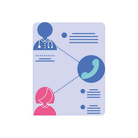 online medical care infographic template vector illustration design