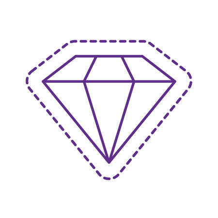 diamond line style icon design, Cute patch expression emoticon and childhood theme Vector illustration Vettoriali