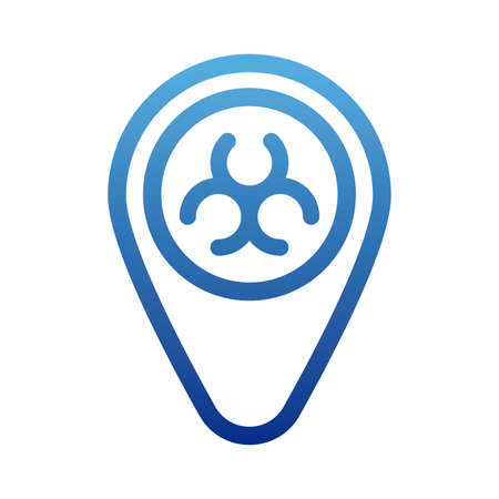 biohazard sign, biohazard symbol, degraded line style icon vector illustration design