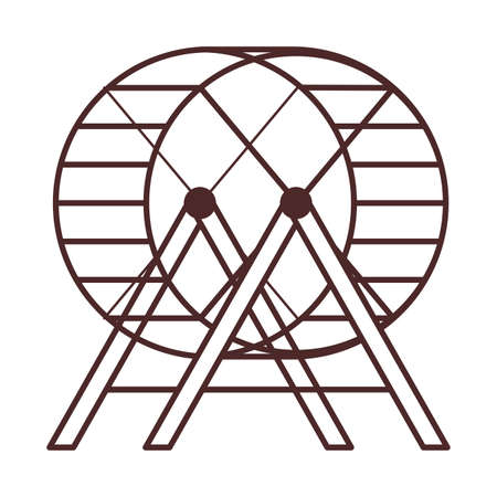 hamster wheel , line style icon vector illustration design Vettoriali