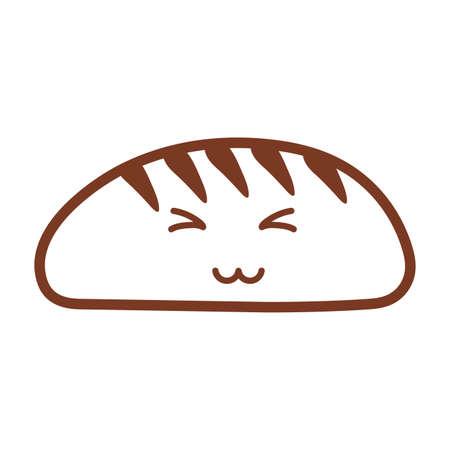 bakery bread , line style icon vector illustration design Illusztráció