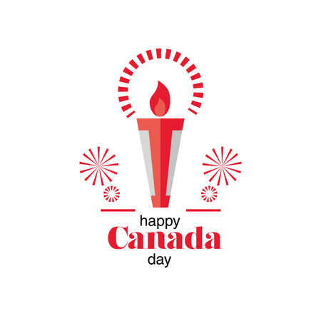 label happy Canada day, national holiday vector illustration design