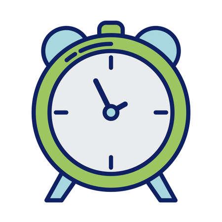alarm clock, line and fill style icon vector illustration design