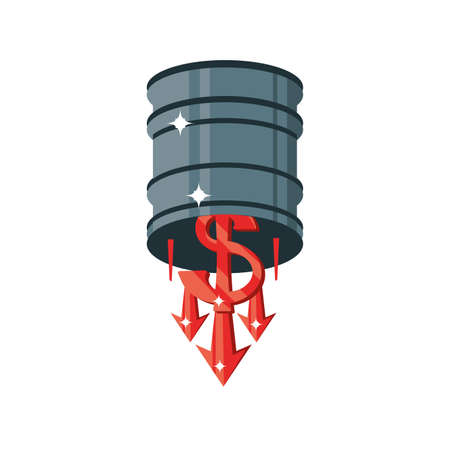 oil price drop on white background vector illustration design