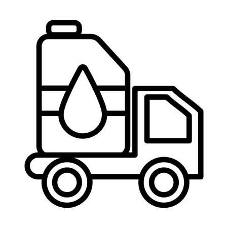 petrol truck , line style icon vector illustration design
