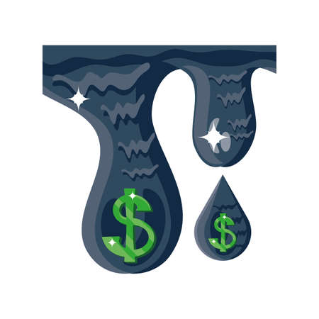 oil with dollar symbol in white background vector illustration design