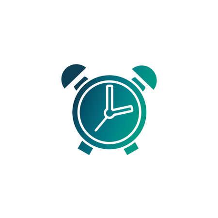 alarm clock, gradient style icon vector illustration design