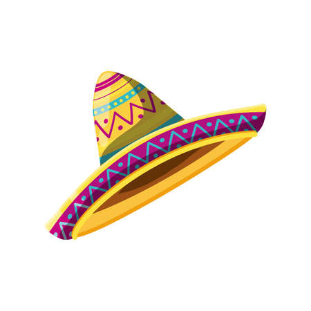 mexican hat on white background vector illustration design Vettoriali