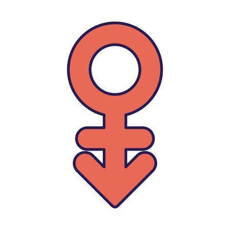 transgender fill style icon design, lgtbi pride day sexual orientation and identity theme Vector illustration
