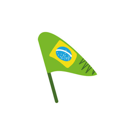 Brazil flag design, Culture tourism brazilian travel south latin america country and traditional theme Vector illustration Archivio Fotografico - 149943972