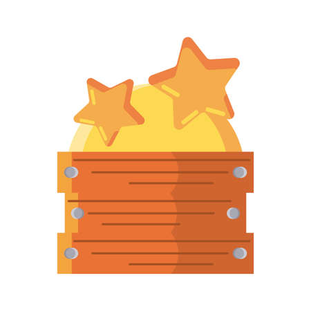 box with stars on white background vector illustration design Ilustracja