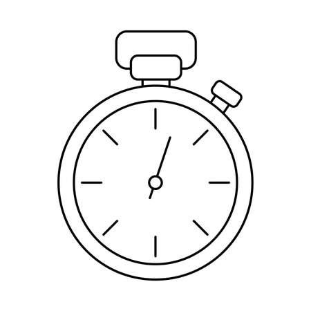alarm clock , line style icon vector illustration design