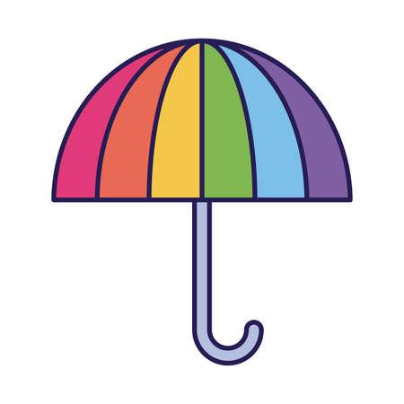 lgbt umbrella fill style icon design, Pride day sexual orientation and identity theme Vector illustration