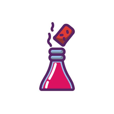 Wine bottle and cork design of Winery alcohol drink beverage restaurant celebration and party theme Vector illustration Illustration