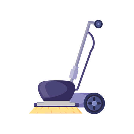 industrial floor cleaner on white background vector illustration design