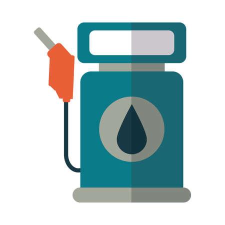 petrol dispenser on white background vector illustration design Illusztráció