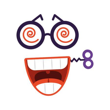 face expression comic, fools day vector illustration design Illustration