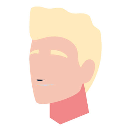 healthy man face at home illustration design Ilustração