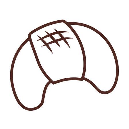 bread croissant, line style icon vector illustration design