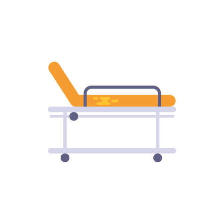 Stretcher design of Medical care health emergency aid exam clinic and patient theme Vector illustration Stock Illustratie