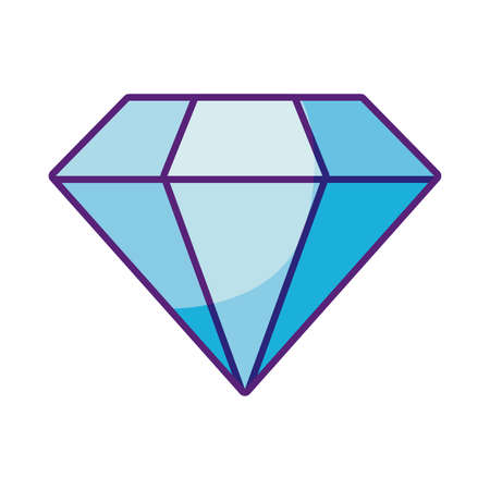 diamond icon over white background, flat style, vector illustration Vectores