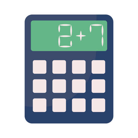 calculator math finance on white background vector illustration design