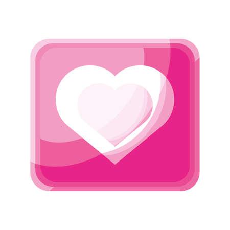 heart app icon on white background vector illustration design