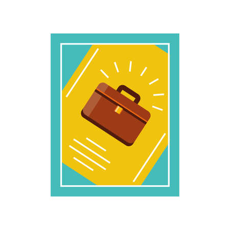 fathers day card template with briefcase vector illustration design