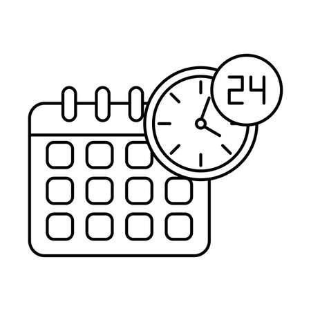 calendar reminder , line style icon vector illustration desing