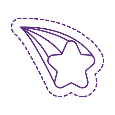 star line style icon design, Cute patch expression emoticon and childhood theme Vector illustration