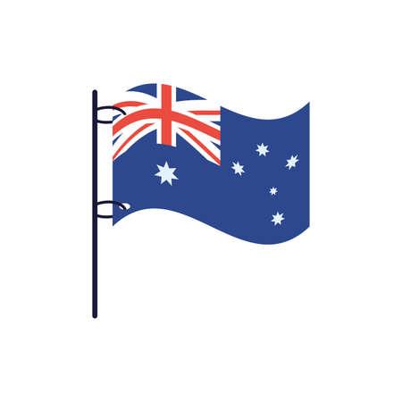 Australian flag design, Travel tourism landmark destination nature vacation south western and holiday theme Vector illustration Ilustração