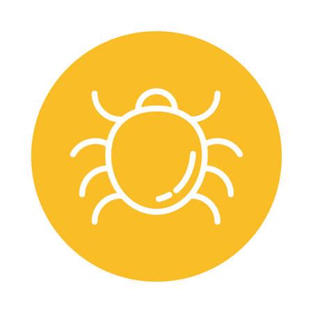 malware bug, block and flat style icon vector illustration design