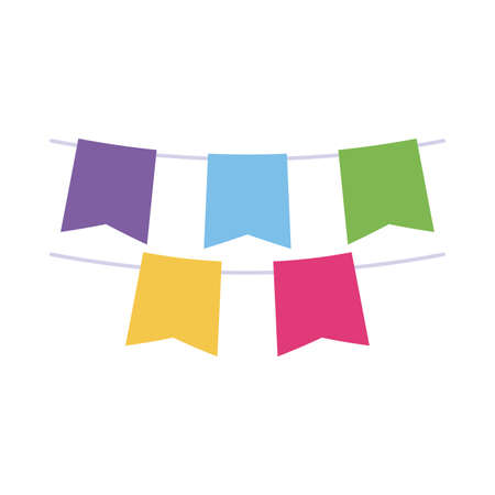 lgtbi banner pennant flat style icon design, Pride day sexual orientation and identity theme Vector illustration