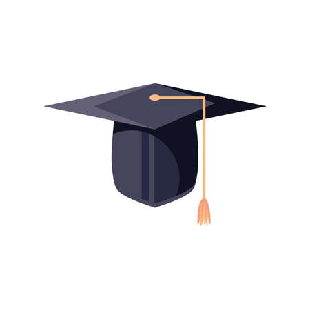 graduation cap on white background vector illustration design