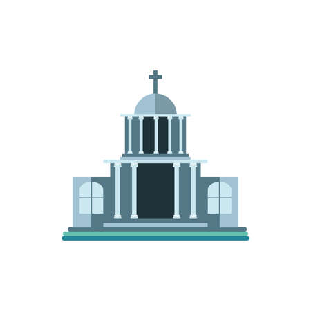 catholic church on white background vector illustration design Vectores
