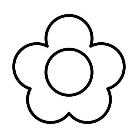 nice flower , line style icon vector illustration design