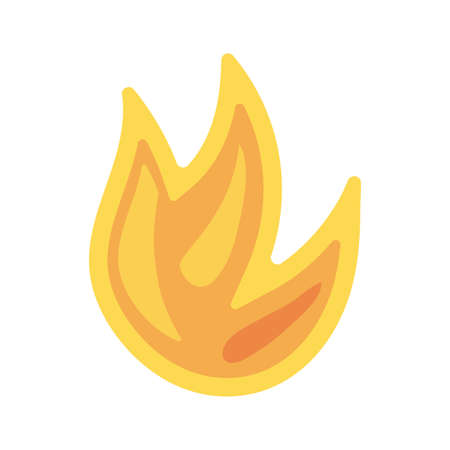 fire flame on white background vector illustration design