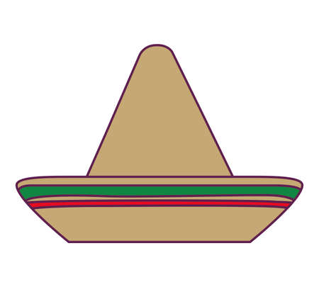 hat mexican traditional isolated icon vector illustration design Vettoriali