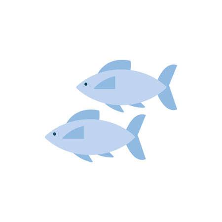 Fishes animals design Sea life ecosystem fauna ocean underwater water nature marine tropical theme Vector illustration Illustration
