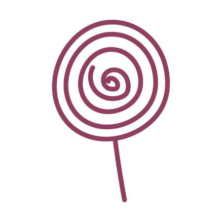 colorful lollipop on white background, line style icon vector illustration design Ilustracja
